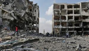 case distrutte in Palestina